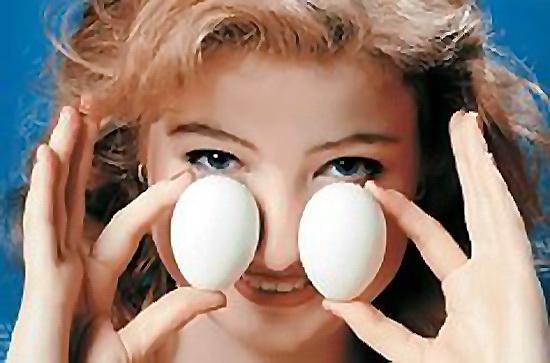 Прогреваем нос яйцами