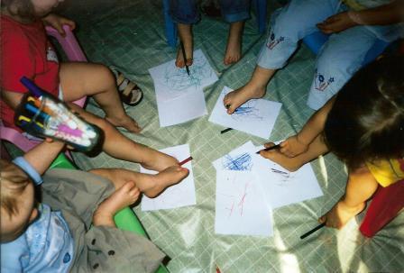 Рисование ногами