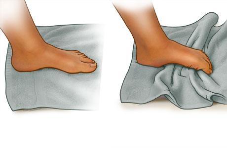 Упражнение для пальцев ног
