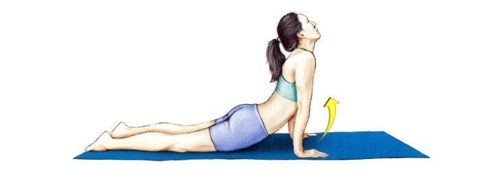 Упражнение лежа на животе