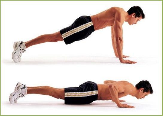 Упражнение отжимание