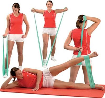 Эластичный резиновый бинт для упражнений