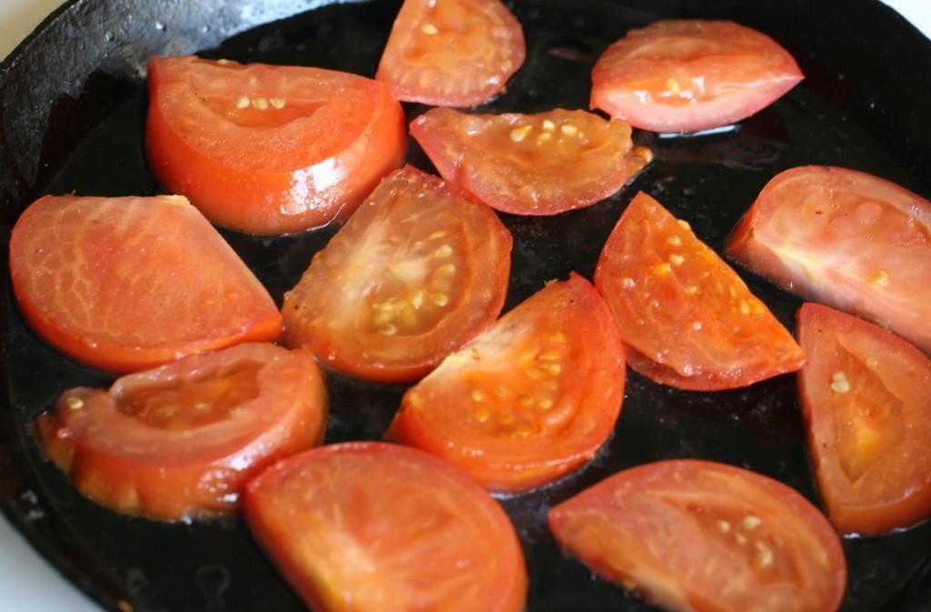 Жарка томатов