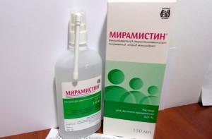 Борная кислота, перманганат калия, Фурацилин, Мирамистин