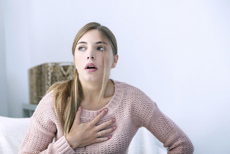 Изменение частоты дыхания или одышка