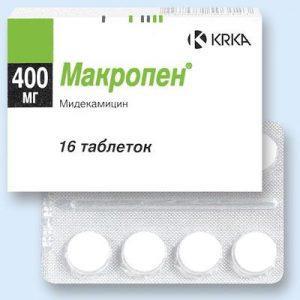 Мидекамицин («Макропен»)