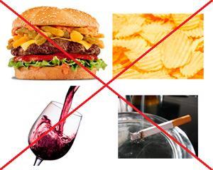 Нужно сделать выбор в пользу правильного питания и отказаться от вредных привычек