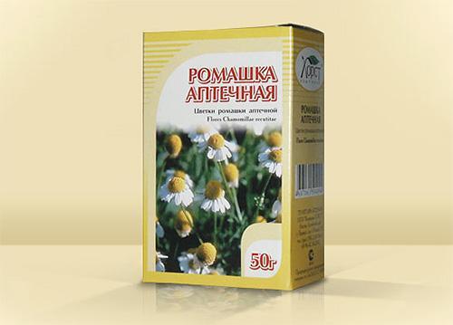 Ромашка аптечная, цветки