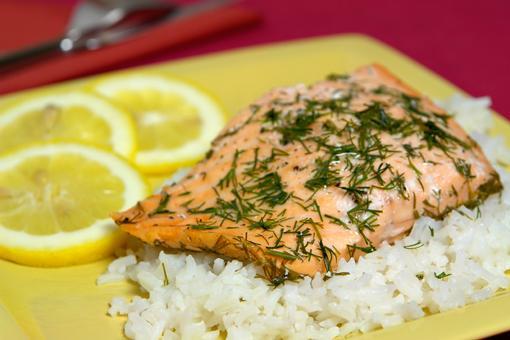 Рыба с рисом для правильного питания