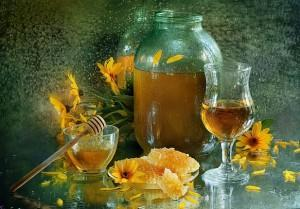 Цветочный мед, водка