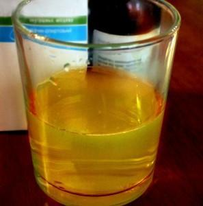 Раствор соли с йодом
