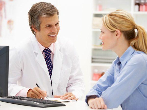 Опрос и осмотр врача