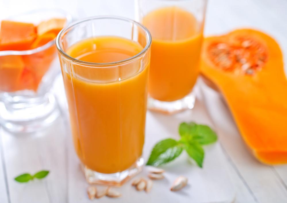 Тыквенный сок способствует заживлению повреждений слизистой желудка