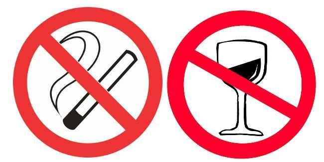 Частое употребление алкогольных напитков и курение являются причиной являются причиной повышенного нижнего давления