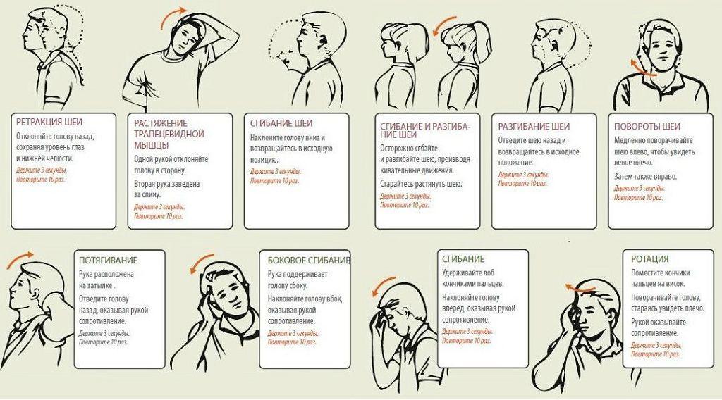 Эффективные упражнения от остеохондроза шейного отдела позвоночника