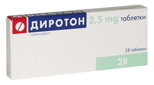 Диротон используется в монотерапии или как часть комплексного лечения гипертонической болезни