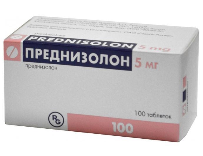 Преднизолон является противовоспалительным и антиаллергическим средством