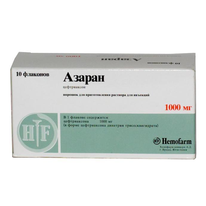 Препарат Азаран применяется при неосложненной форме гонореи