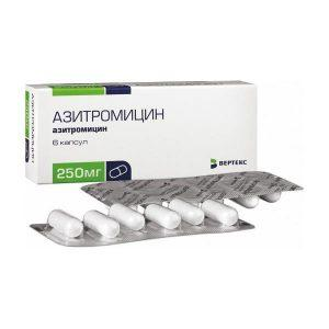 Препарат Азитромицин применяется при осложненной форме кашля
