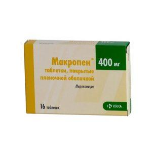 Препарат Макропен эффективен даже при лечении осложненной формы гайморита
