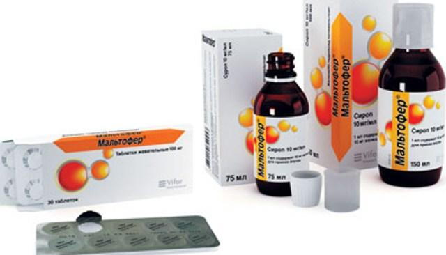 Препарат Мальтофер для предотвращения железодефицитной анемии при тяжелых формах НЯК