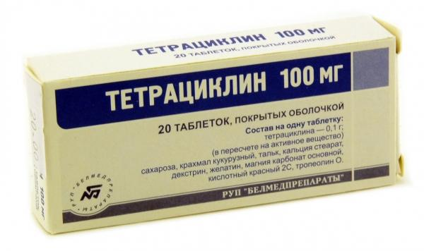 Препарат Тетрациклин эффективен против всех видов прыщей