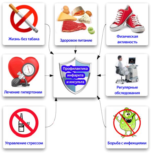 Профилактика инфаркта и инсульта
