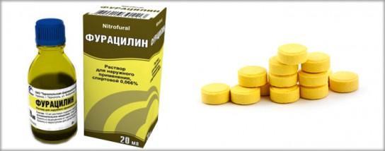 Раствор фурацилина для лечения зуда в паху у мужчин