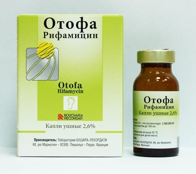 Сильнодействующие антибактериальное и противовоспалительное средство Отофа