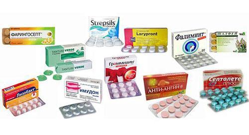 Таблетки от болей в горле купируют боль и оказывающих противовоспалительное действие