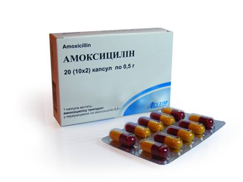 Препарат Амоксициллин в капсулах