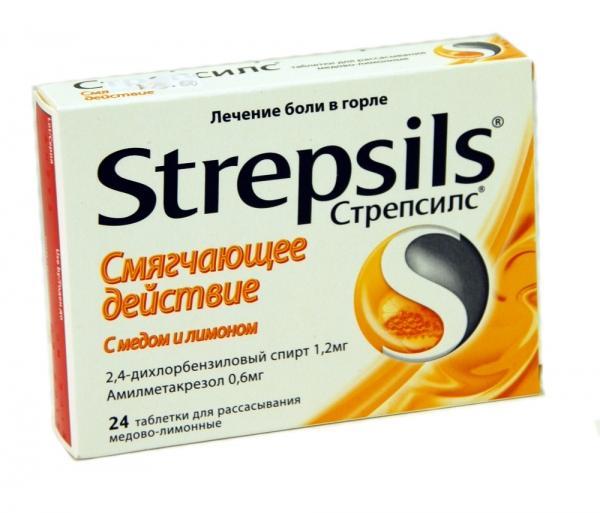 Препарат Стрепсилс способен убрать болевой синдром и продезинфицировать ротовую полость и горло