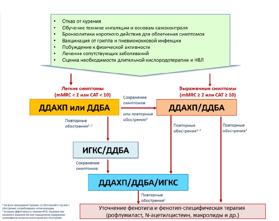 Алгоритм ведения пациентов с ХОБЛ