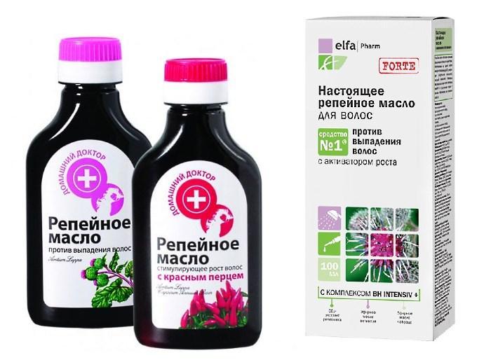 Использование репейного масла с эфирным позволяет получить более быстрый результат при алопеции
