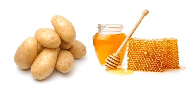 Картофельно-медовая маска вытягивает из кожи белый жир, который часто становится причиной воспаления кожи