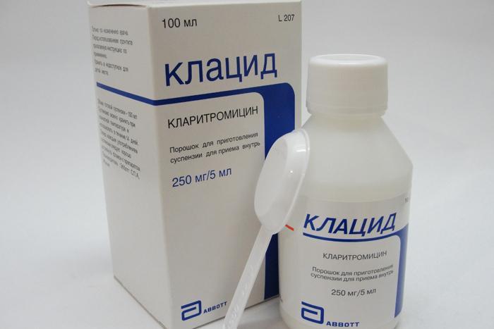 Клацид в форме суспензий