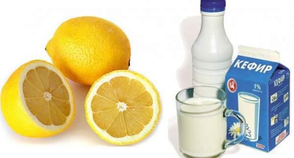 Лимонно-кефирная маска подходит для жирной кожи