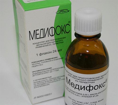 Препарат Медифокс уничтожает самок, самцов, личинки чесоточного клеща