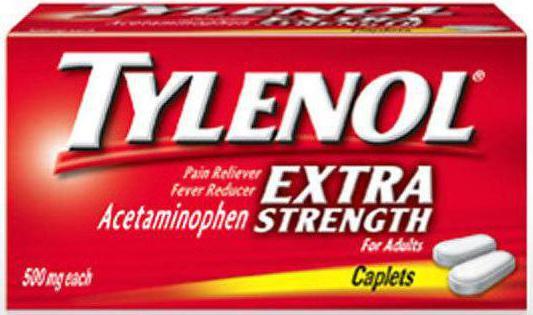 Препарат Тайленол в форме таблеток