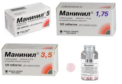 Форма выпуска препарата Манинил