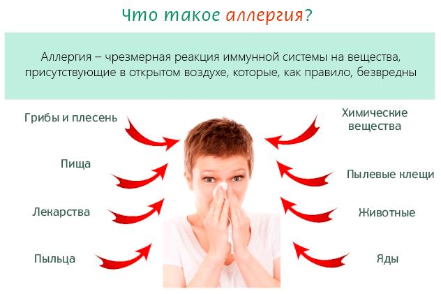 Что такое аллергия и на что может возникнуть аллергия