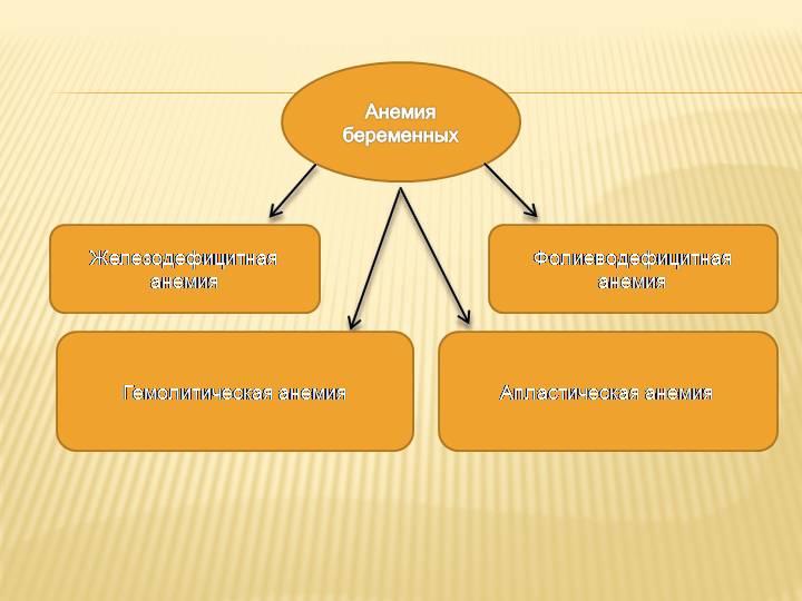 Виды анемий у беременных