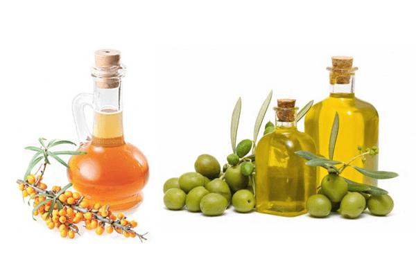 Масла оливок и облепихи обладают выраженным тонизирующим, противовоспалительным и регенерирующим свойствами