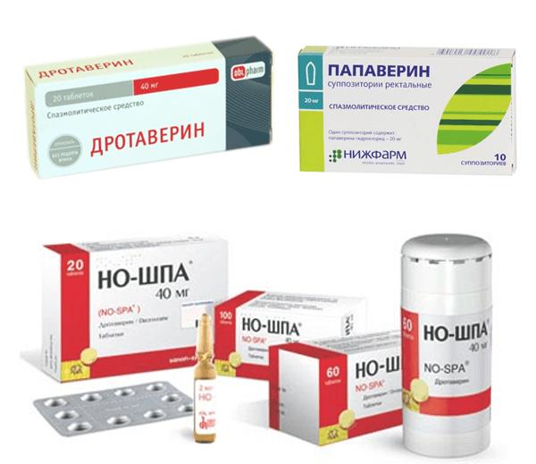 Популярные средства из группы спазмолитических лекарств