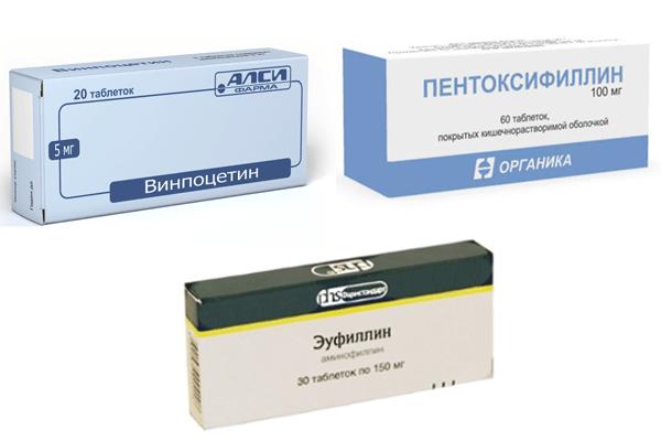 Препараты для нормализации кровообращения при шейном остеохондрозе
