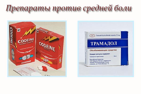 Препараты против боли средней интенсивности при онкологии