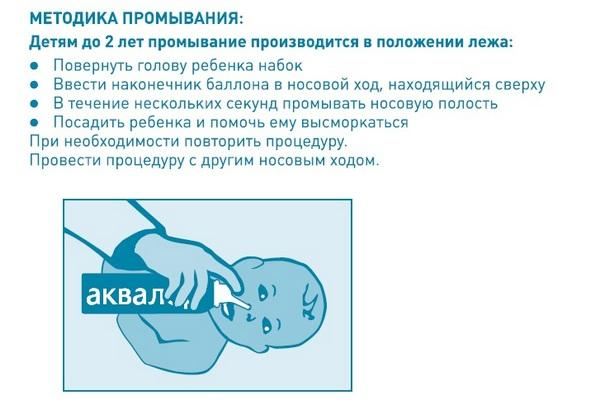 Техника промывания носа ребенку до 2х лет