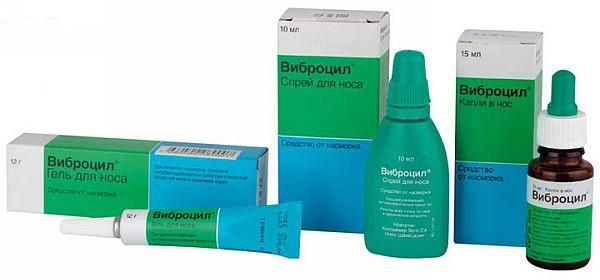 Форма выпуска препарата Виброцил