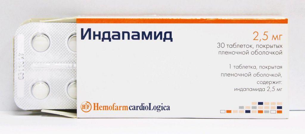 Индапамид обладает выраженным диуретическим и гипотензивным действием
