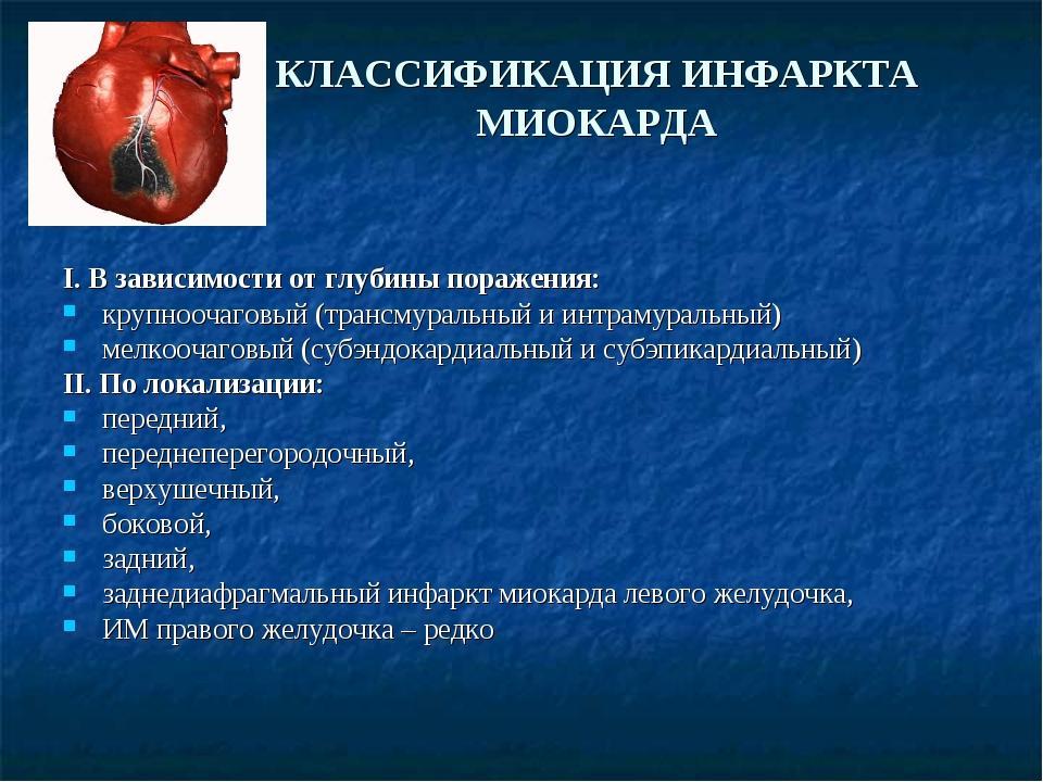 Классификация инфаркта миокарда